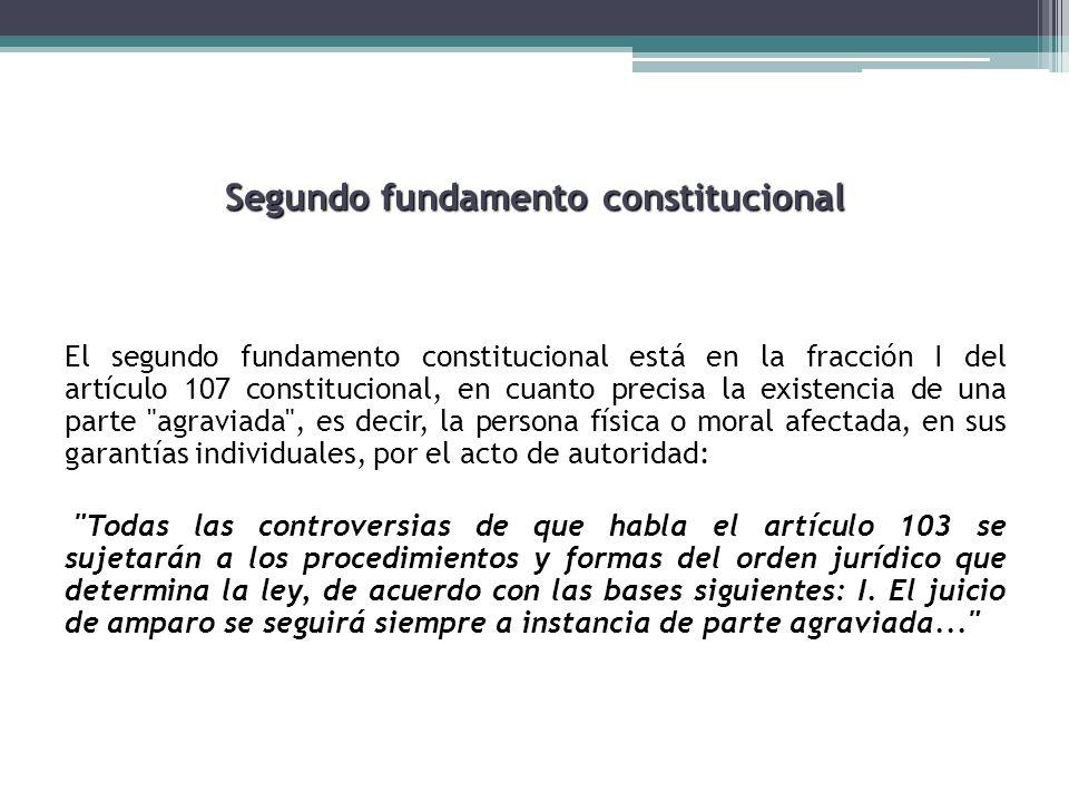 Segundo fundamento constitucional