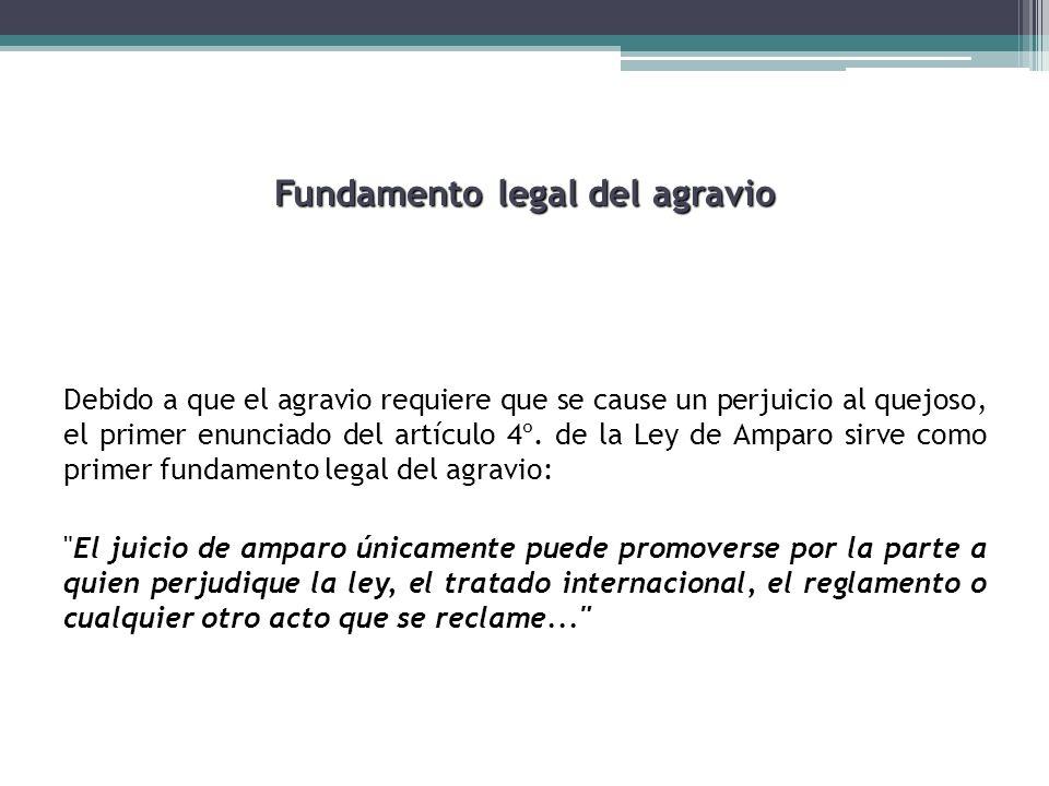 Fundamento legal del agravio