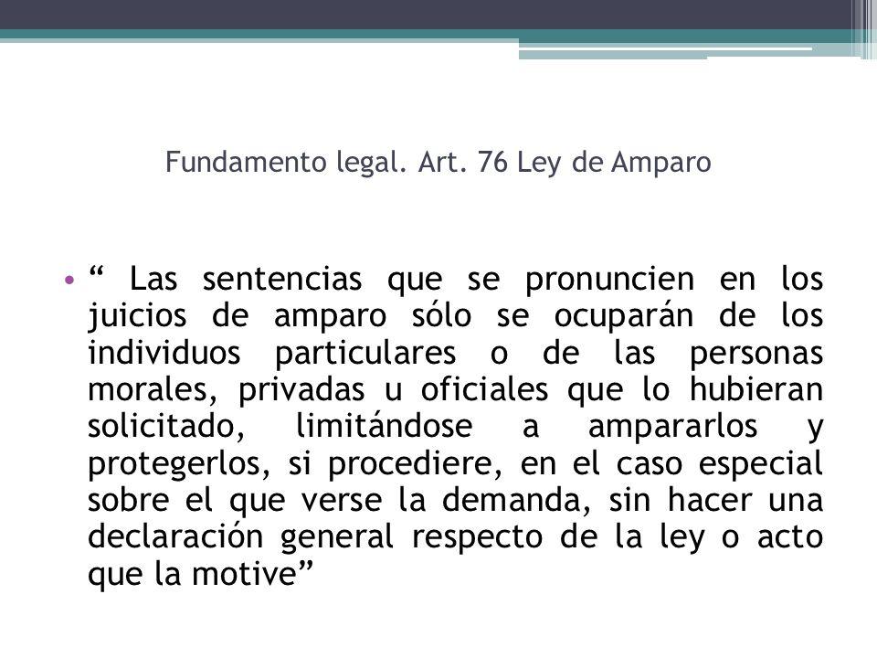 Fundamento legal. Art. 76 Ley de Amparo