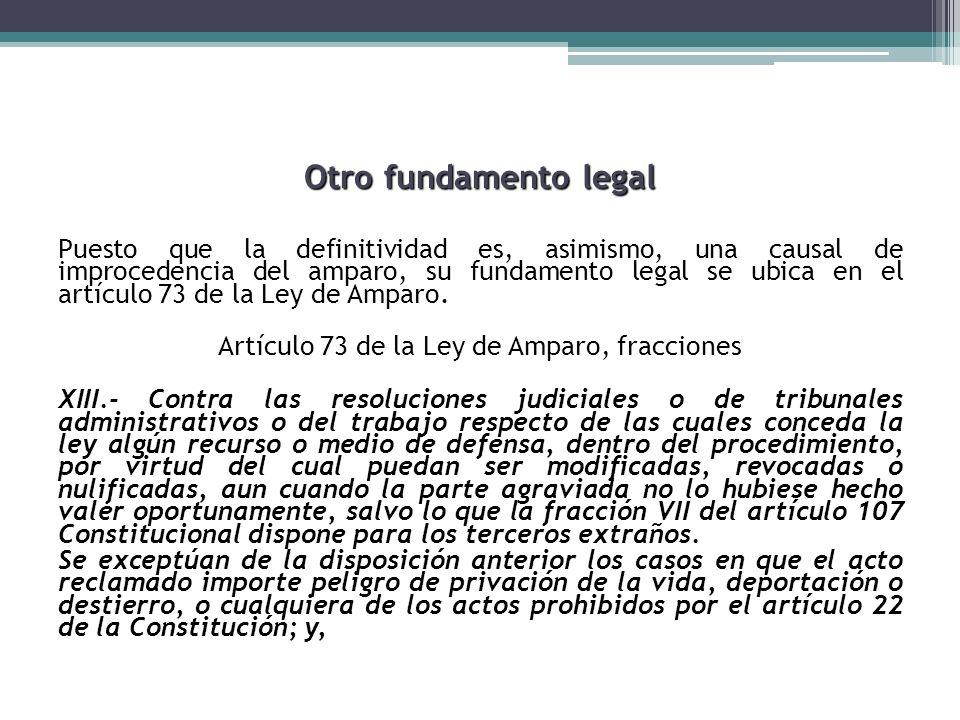 Otro fundamento legal