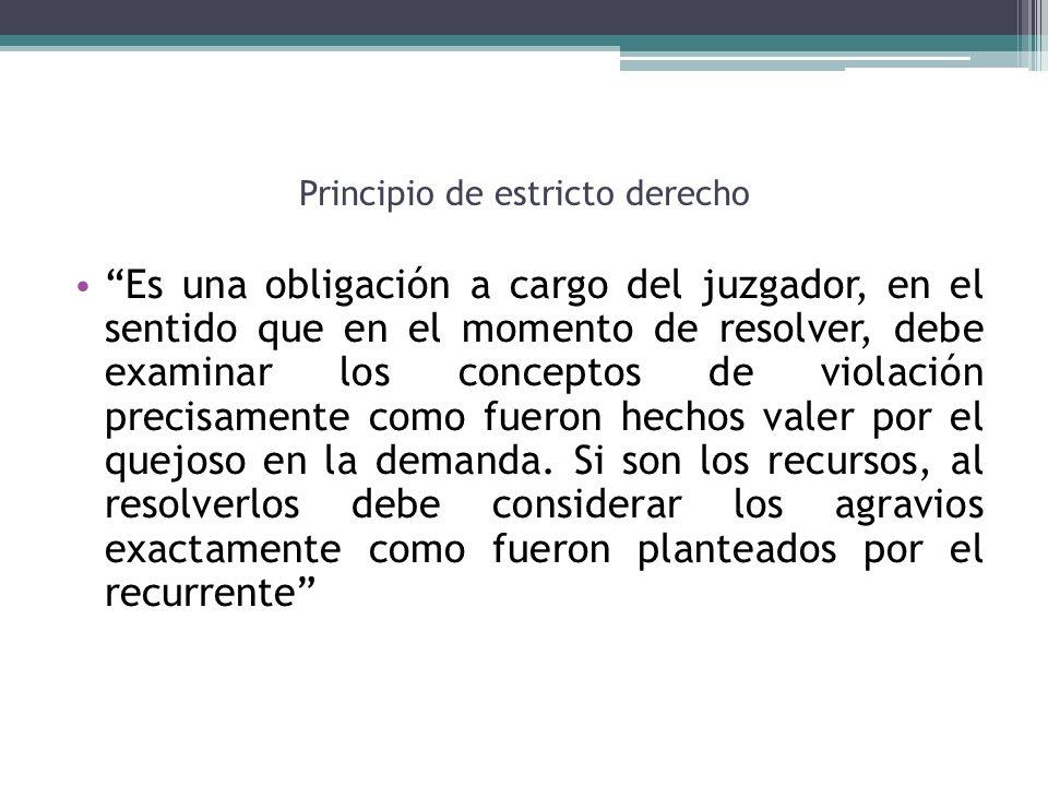 Principio de estricto derecho