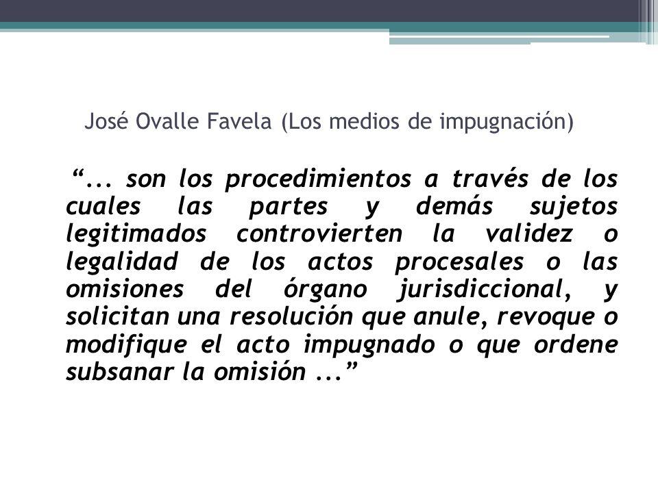 José Ovalle Favela (Los medios de impugnación)