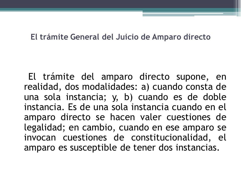 El trámite General del Juicio de Amparo directo