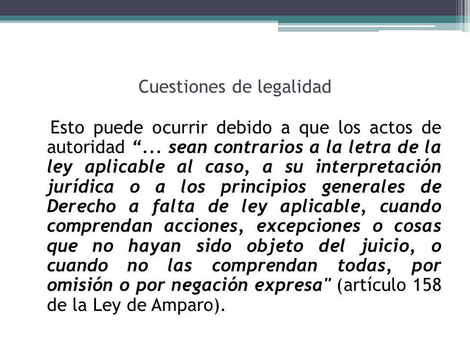 Cuestiones de legalidad