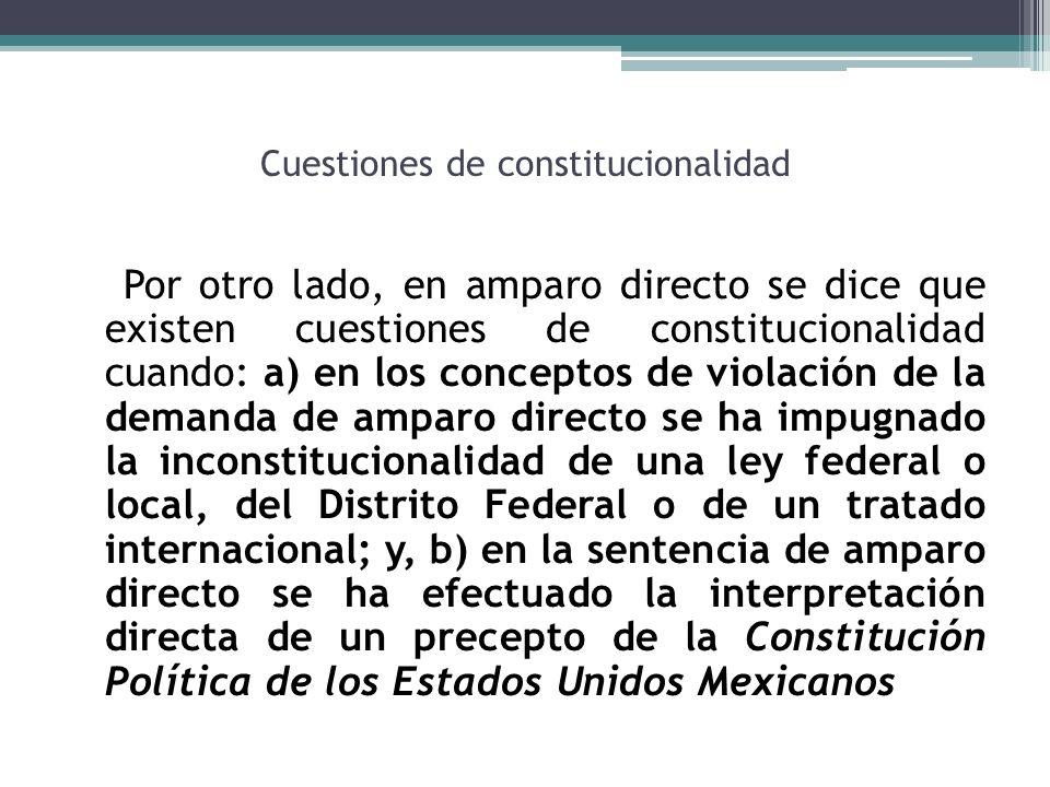 Cuestiones de constitucionalidad