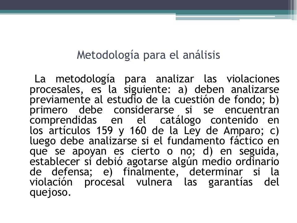 Metodología para el análisis