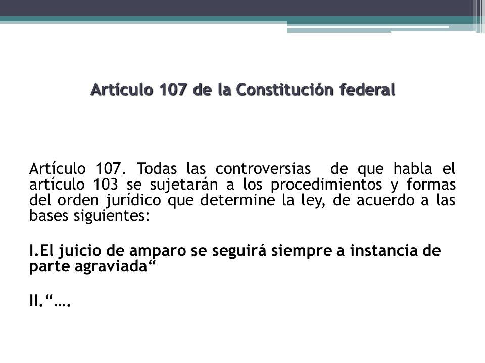 Artículo 107 de la Constitución federal