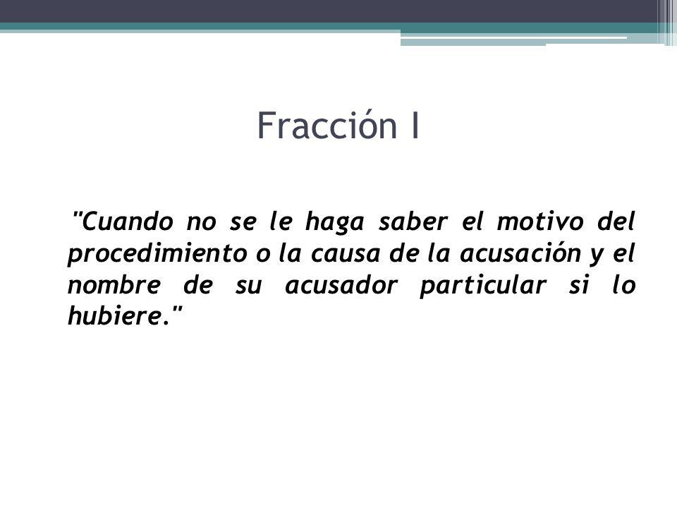 Fracción I