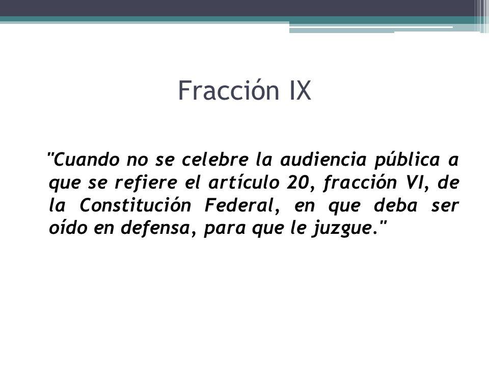 Fracción IX