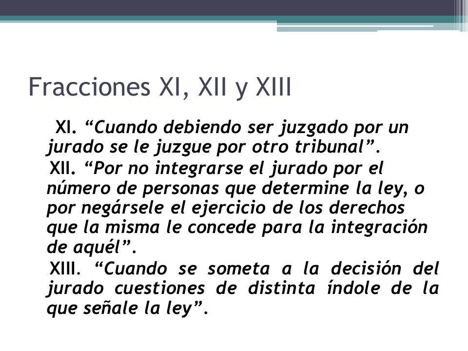 Fracciones XI, XII y XIII