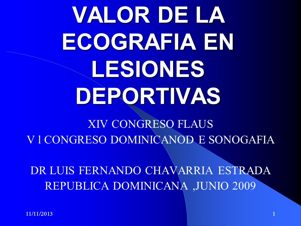 VALOR DE LA ECOGRAFIA EN LESIONES DEPORTIVAS