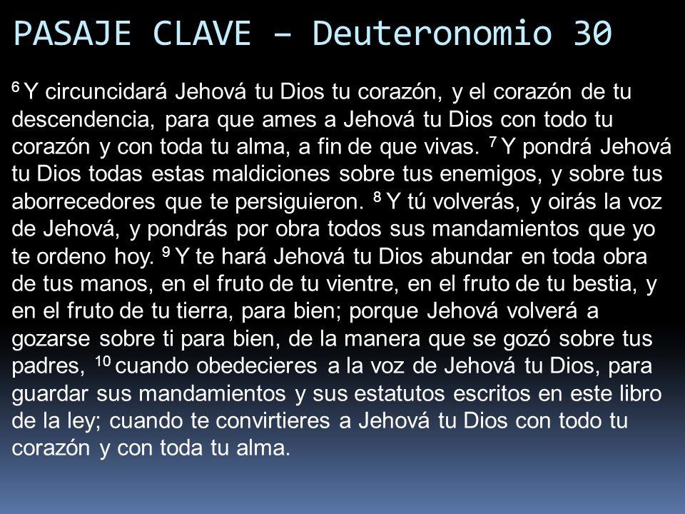 PASAJE CLAVE – Deuteronomio 30