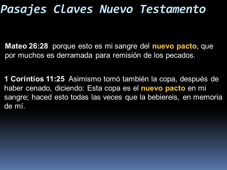 Pasajes Claves Nuevo Testamento