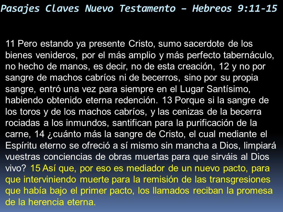 Pasajes Claves Nuevo Testamento – Hebreos 9:11-15