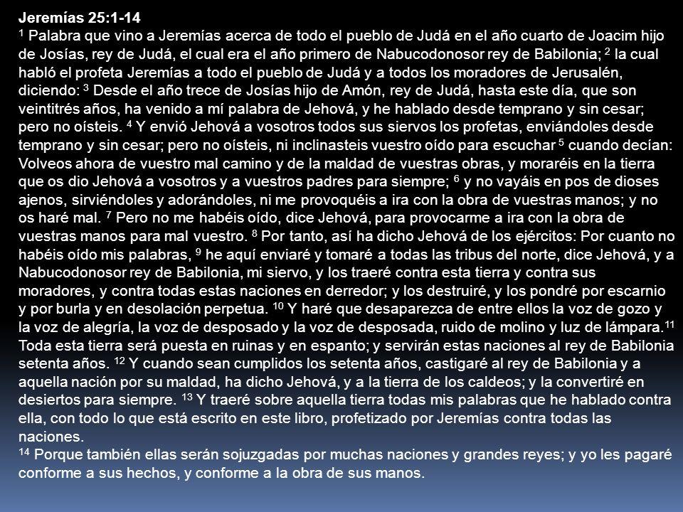 Jeremías 25:1-14