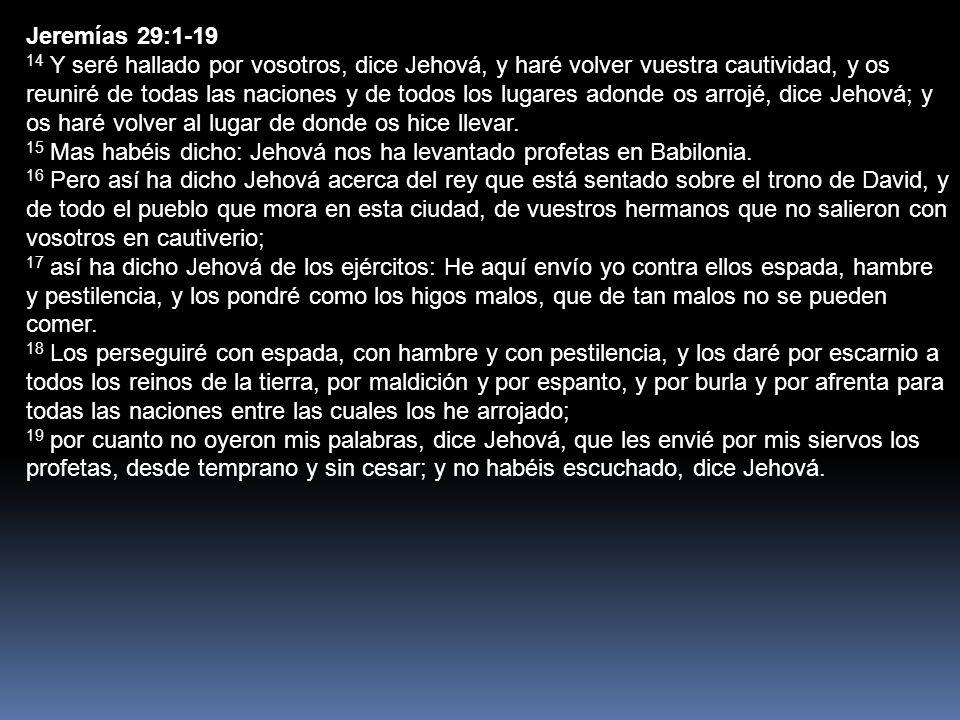 Jeremías 29:1-19