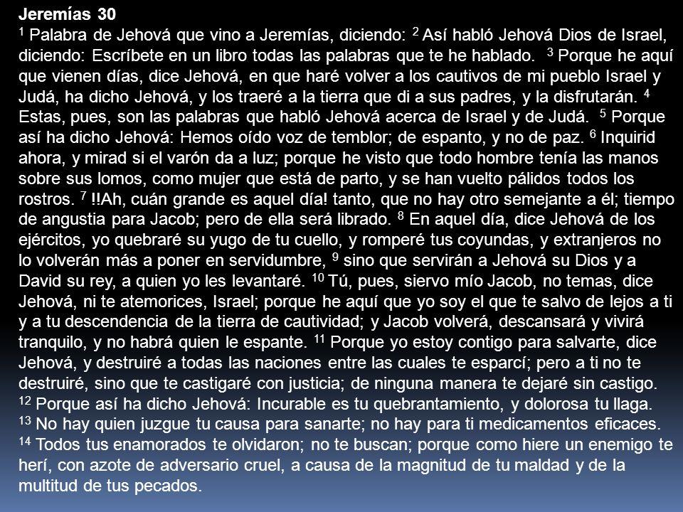 Jeremías 30