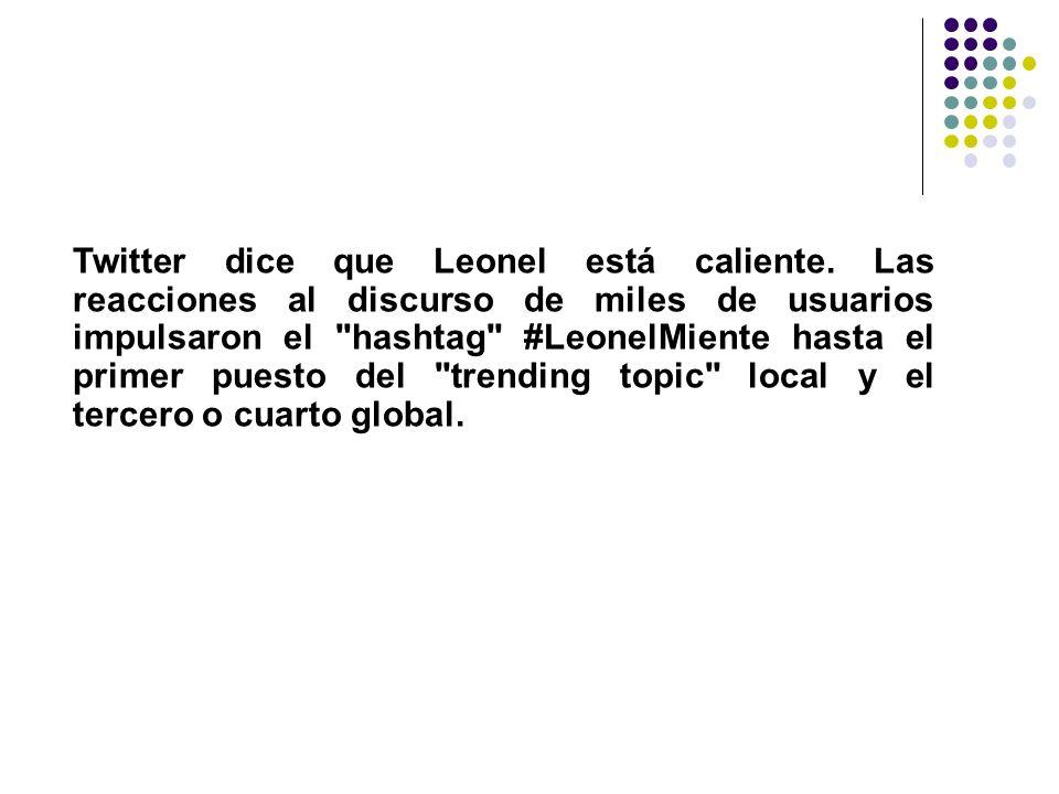 Twitter dice que Leonel está caliente