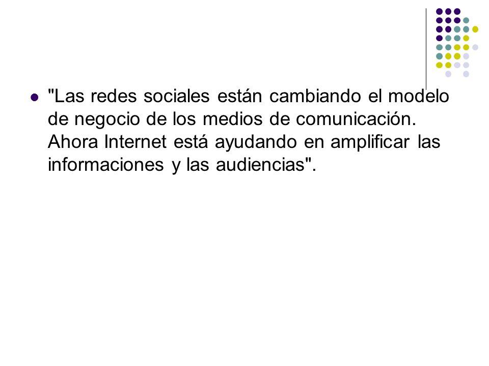 Las redes sociales están cambiando el modelo de negocio de los medios de comunicación.
