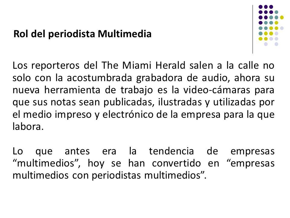 Rol del periodista Multimedia