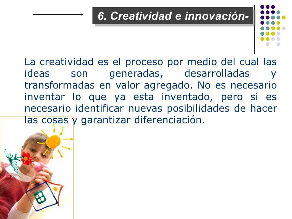 6. Creatividad e innovación-