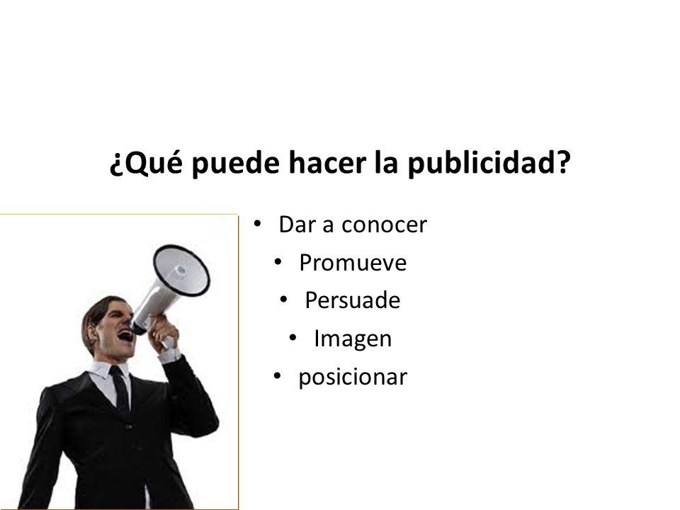¿Qué puede hacer la publicidad
