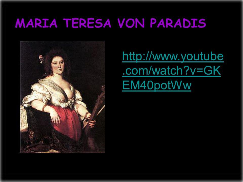 MARIA TERESA VON PARADIS