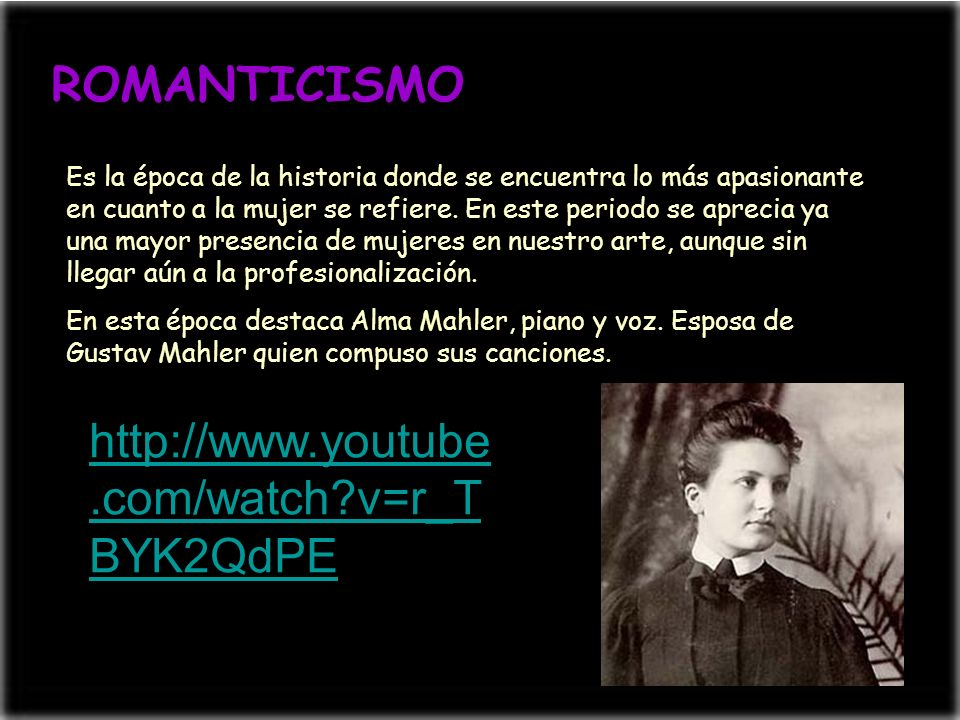 ROMANTICISMO http://www.youtube.com/watch v=r_TBYK2QdPE