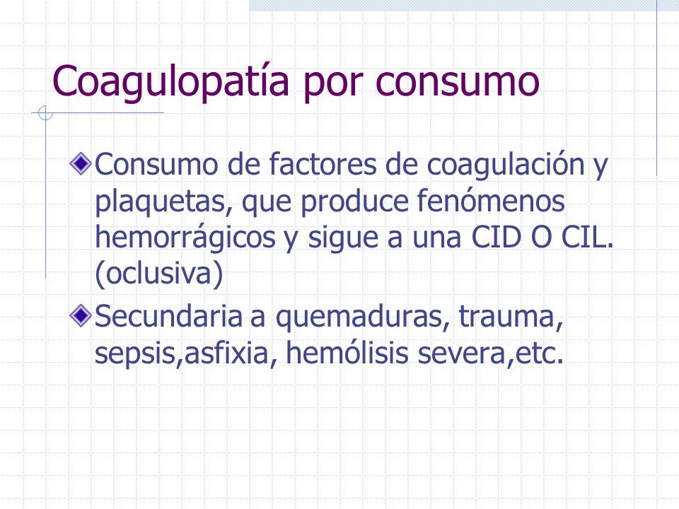 Coagulopatía por consumo