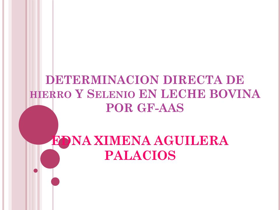 DETERMINACION DIRECTA DE hierro Y Selenio EN LECHE BOVINA POR GF-AAS