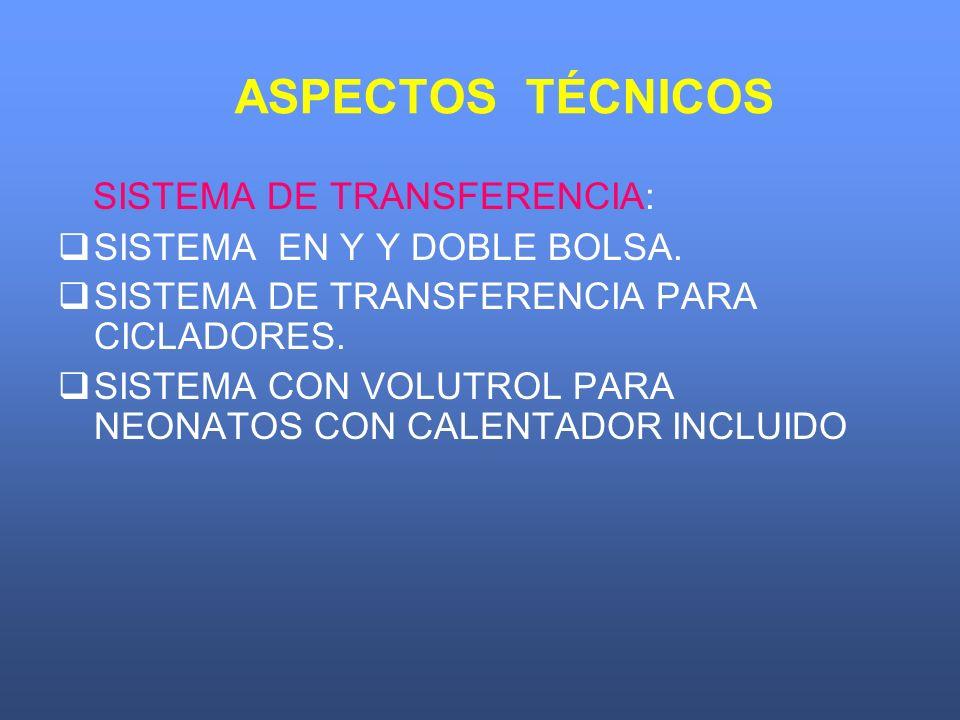 ASPECTOS TÉCNICOS SISTEMA DE TRANSFERENCIA: