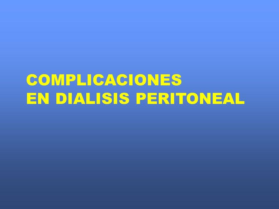 COMPLICACIONES EN DIALISIS PERITONEAL