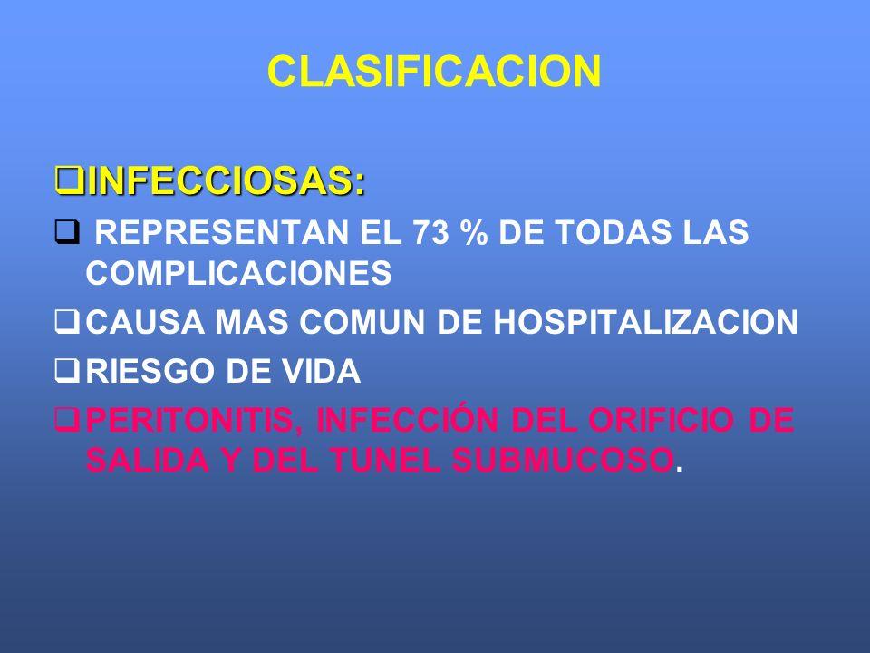 CLASIFICACION INFECCIOSAS: