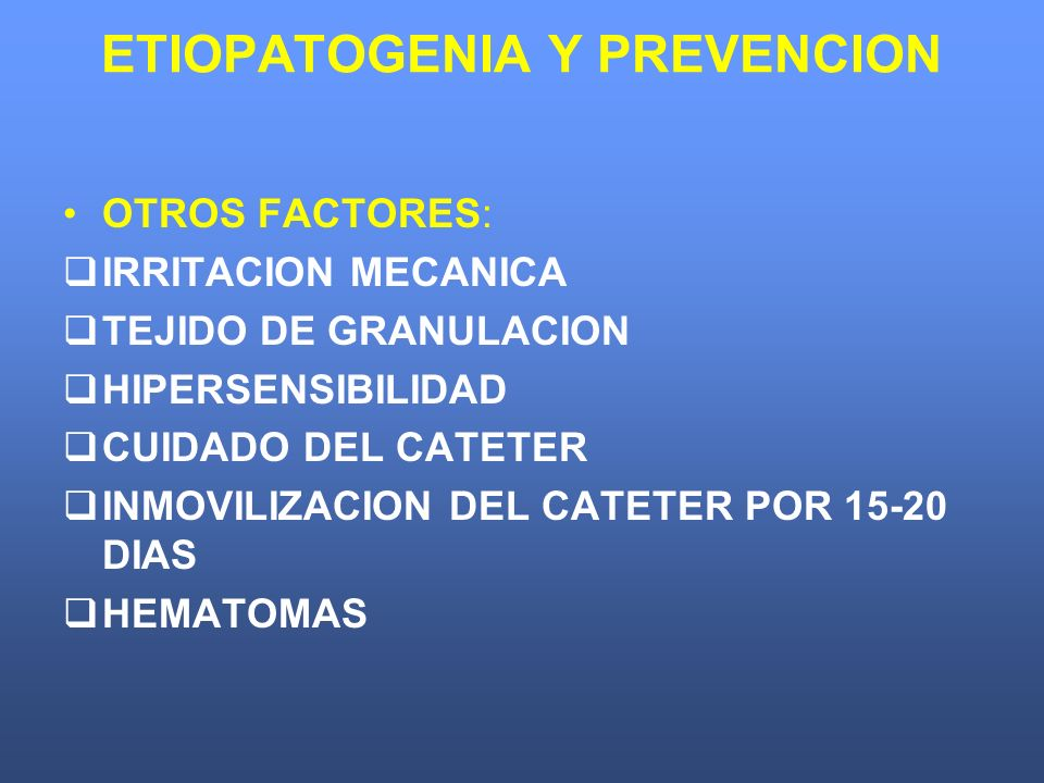 ETIOPATOGENIA Y PREVENCION
