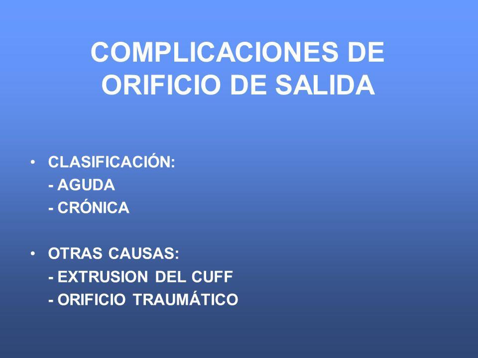 COMPLICACIONES DE ORIFICIO DE SALIDA