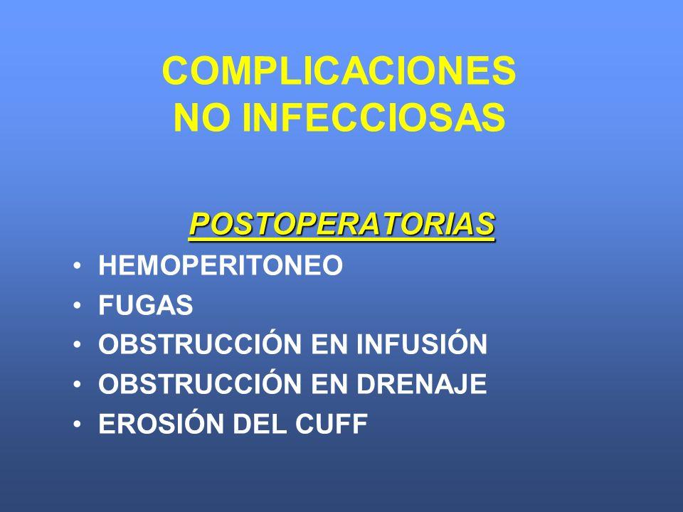 COMPLICACIONES NO INFECCIOSAS
