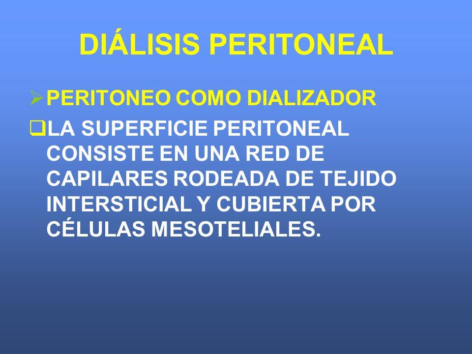 DIÁLISIS PERITONEAL PERITONEO COMO DIALIZADOR