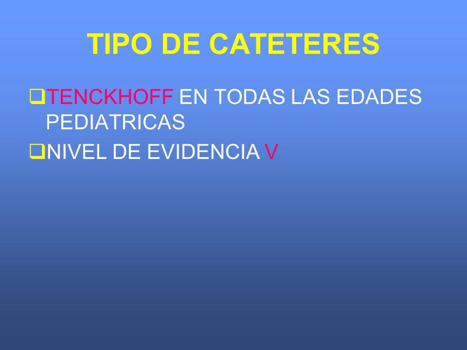 TIPO DE CATETERES TENCKHOFF EN TODAS LAS EDADES PEDIATRICAS