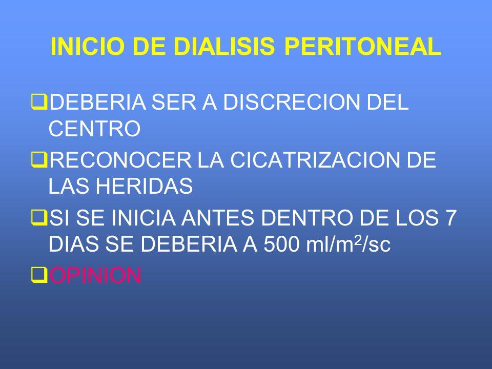 INICIO DE DIALISIS PERITONEAL