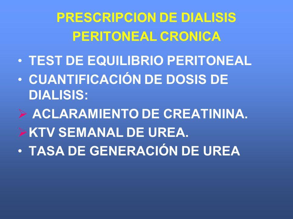 PRESCRIPCION DE DIALISIS PERITONEAL CRONICA
