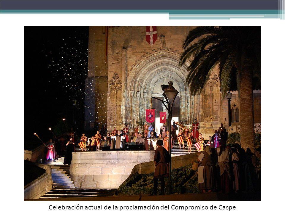 Celebración actual de la proclamación del Compromiso de Caspe