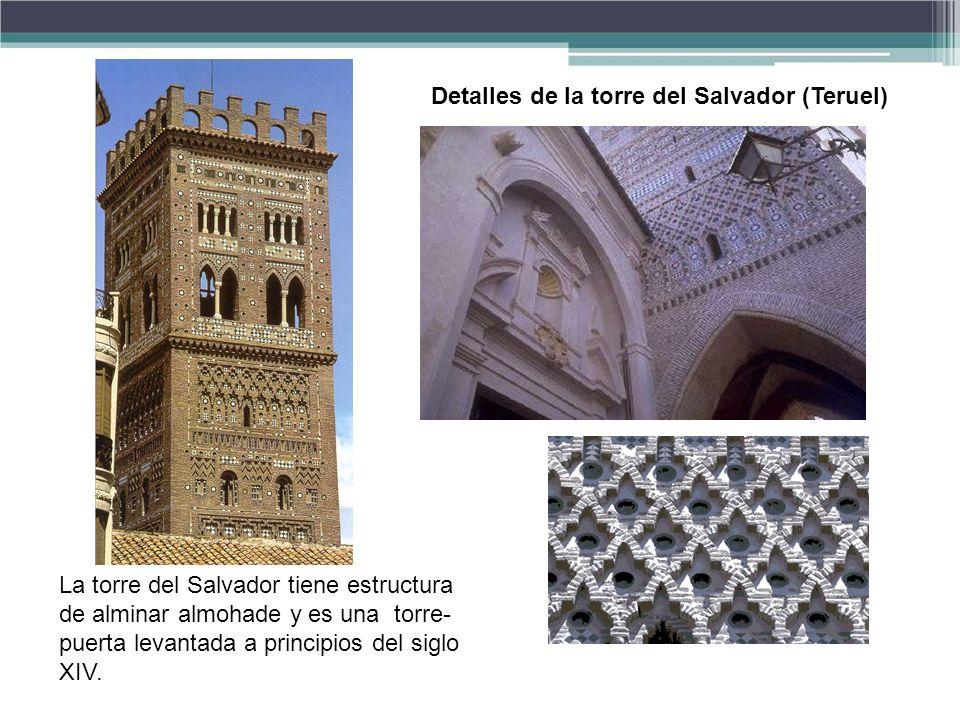 Detalles de la torre del Salvador (Teruel)