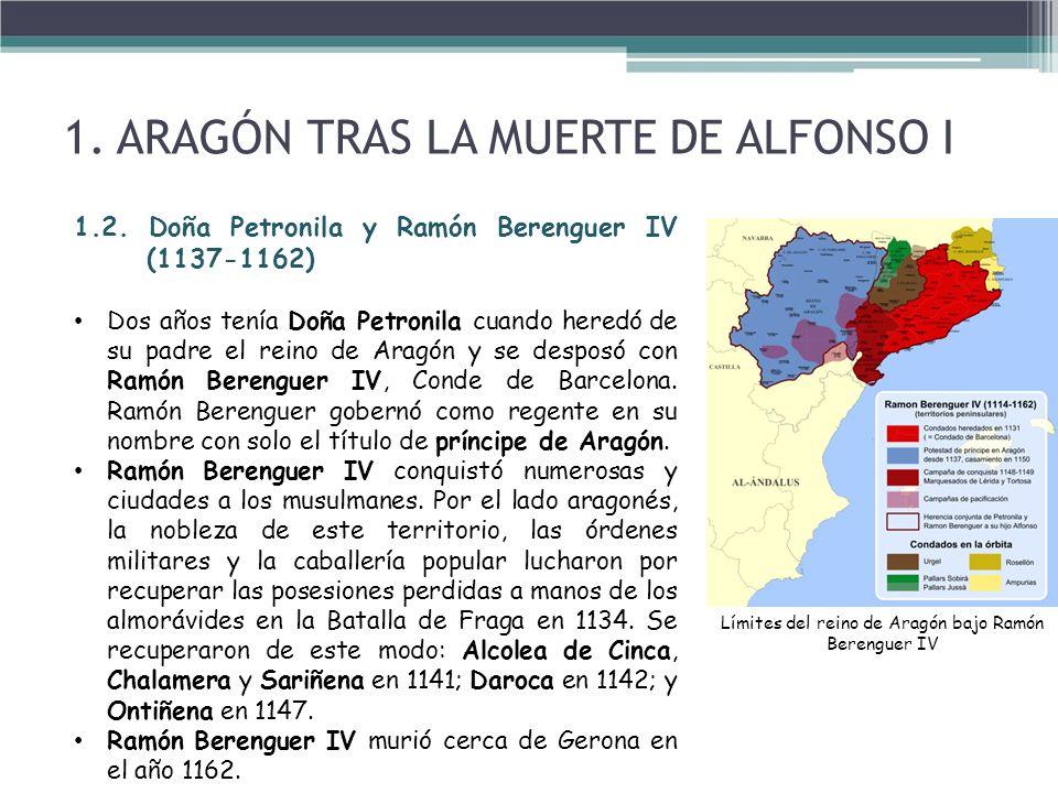 Límites del reino de Aragón bajo Ramón Berenguer IV