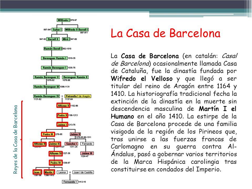 Reyes de la Casa de Barcelona