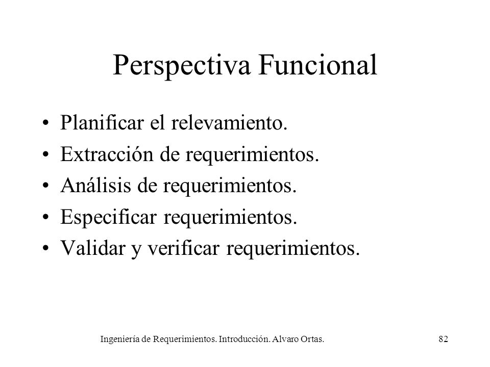 Perspectiva Funcional