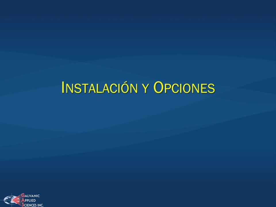 Instalación y Opciones