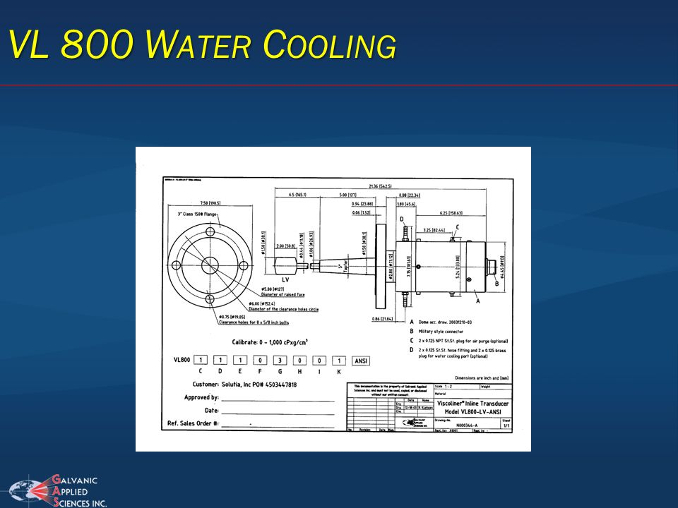 VL 800 Water Cooling