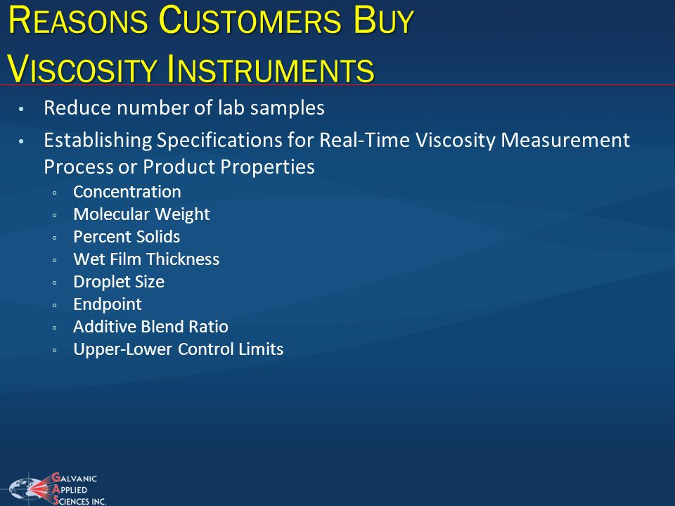 Reasons Customers Buy Viscosity Instruments