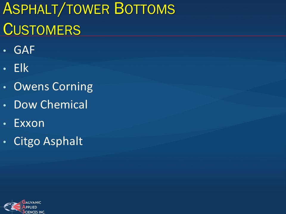 Asphalt/tower Bottoms Customers
