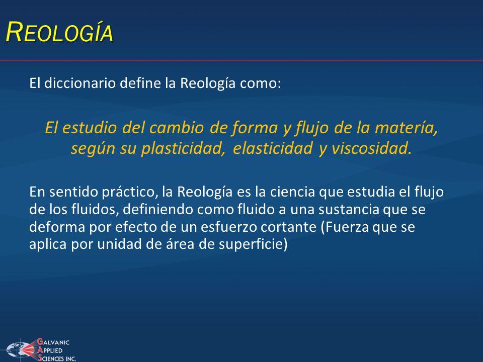 Reología El diccionario define la Reología como: